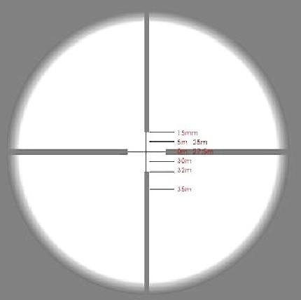 怎样把瞄准镜普通的分划线当成密位分划使用